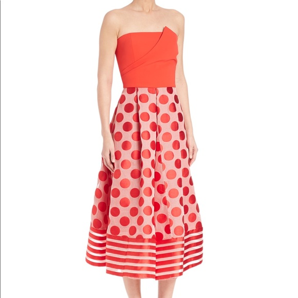 Sachin Babi Dresses Sachin Babi Womens Red Tori Strapless Ball